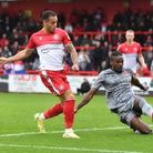 Elliott List is off target early in the second half for Stevenage against Leyton Orient.