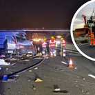 The crash happened on the eastbound carriageway of the A14 near Godmanchester.