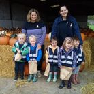 Children from The Nursery visited a pumpkin patch.