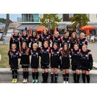 All smiles for Portishead Town Hotspur Girls under-12s as they pose for the camera.