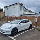 Car charging at the new South Woodford electric vehicle charging hub
