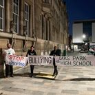 National Education Union members protested outside Redbridge Council's cabinet meeting last Thursday, October 21.
