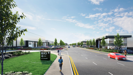 """A new """"sustainable"""" business park which could be built near Stansted Airport"""