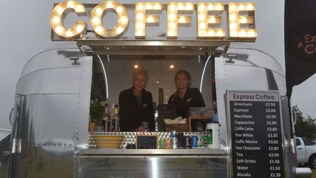 A coffee stall at a street market. Photograph: BRITTANY WOODMAN.