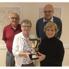 The St Andrews team who won the TLH Autumn Bowls Festival at Torquay.
