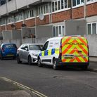 A police forensics van parked on Suffolk Square in Norwich. Picture: Danielle Booden