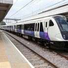 The Elizabeth line passenger train, after its first journey in Shenfield. Picture: Catherine Davison