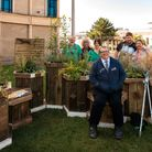 Members of the Grow Feral project at the launch of its micro-garden at the Italian Gardens in Weston.