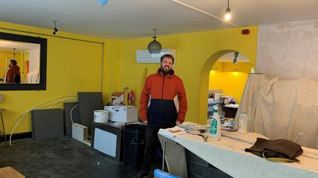 Jimmy Preston inside the restaurant building in St George's Street, where works are progressing ahead of opening