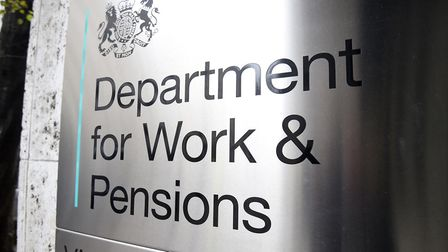 Signage for the Department for Work and Pensions; Kirsty O'Connor/PA.