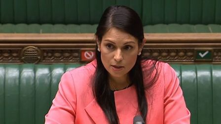 Priti Patel in the House of Commons. Photograph: Parliament TV.