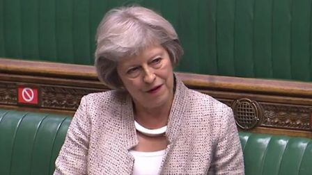 Theresa May fumes about the number of political appointments as advisers. Photograph: Parliament TV.