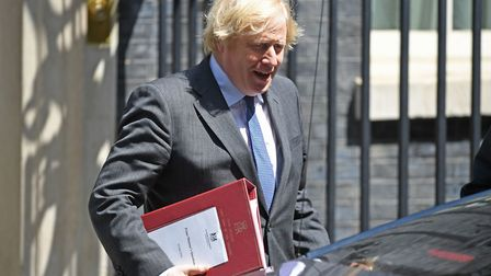 Prime Minister Boris Johnson departs 10 Downing Street, in Westminster. Photograph: Stefan Rousseau/
