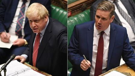 Boris Johnson and Keir Starmer in the House of Commons. Photograph: Jessica Taylor.