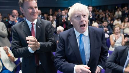 Jeremy Hunt and Boris Johnson were both leadership rivals in 2019. Picture: Stefan Rousseau/PA Wire/