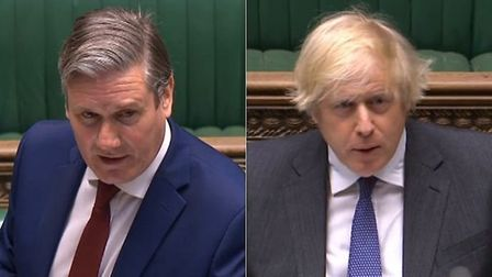Sir Keir Starmer claimed the prime minister had a 'history' of making false accustion during PMQS; P