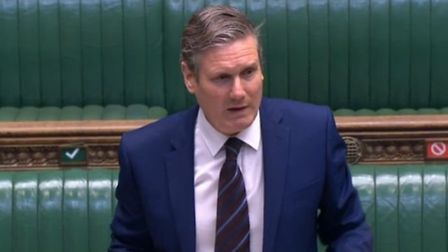 Keir Starmer in the House of Commons. Photograph: Parliament TV.