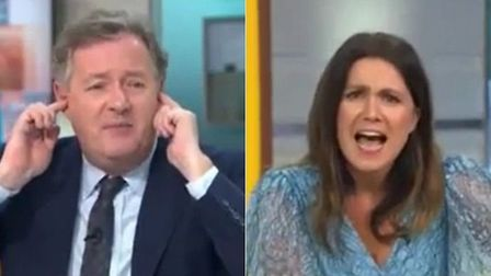 Piers Morgan refuses to read government statement. Photograph: Good Morning Britain.