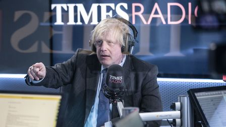 Prime Minister Boris Johnson speaking on the newly-launched Times Radio. Photograph: Richard Pohle/T