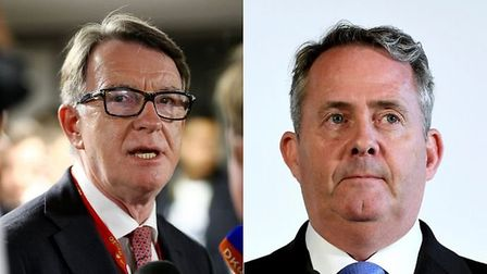Lord Mandelson (L) has been ruled out of the race to become the next WTO chief, leaving former inter