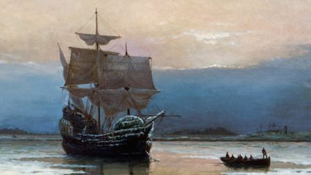 'The Mayflower in Plymouth Harbor' by William Halsall. Picture: Getty Images
