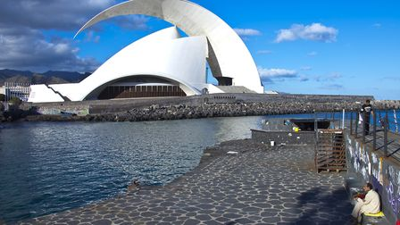 The modern architecture concert hall Auditorio de Tenerife in Santa Cruz. Picture: Getty Images