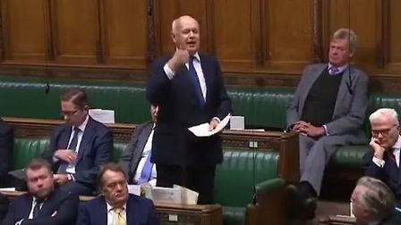 Brexiteer Iain Duncan Smith in the House of Commons debating against giving MPs more time to scrutin