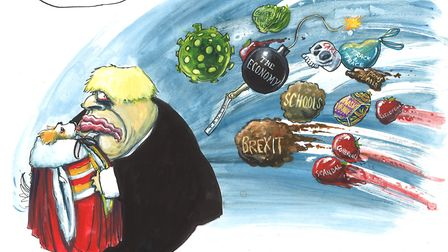 Martin Rowson's illustration for The New European on the new peerages in the House of Lords.