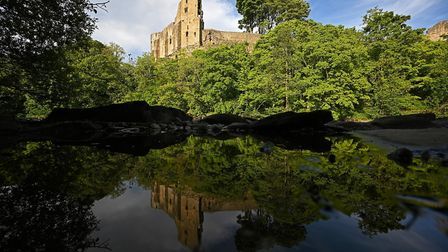 The River Tees is pictured at Barnard Castle, less than 30 miles southwest of Durham, north east Eng