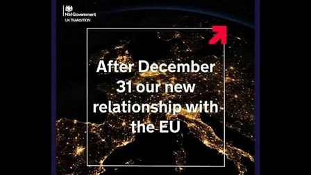 A screengrab of the government's latest Brexit promo; Twitter