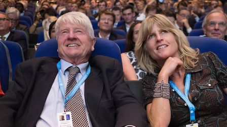 Rachel Johnson and her father Stanley Johnson at the Conservative Party conference. Picture: Stefan