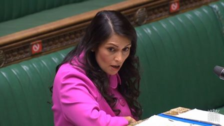 Home secretary Priti Patel in the House of Commons; House of Commons/PA Wire