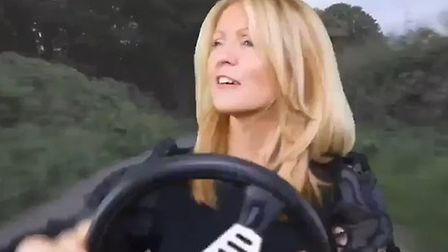 Esther McVey has baffled Twitter users with her latest video post. Photograph: Twitter.