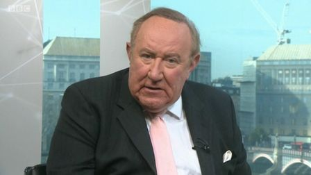 Andrew Neil appears on the BBC during the general election. Photograph: BBC.