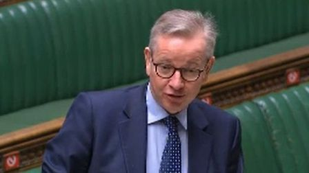 Cabinet minister Michael Gove answering questions in House of Commons; Parliamentlive