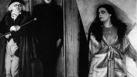 Werner Krauss, Conrad Veidt and Lil Dagover in Cabinet of Dr. Caligari in 1919. Picture: Getty