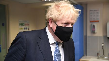 Prime Minister Boris Johnson during a visit to Tollgate Medical Centre in Beckton in East London. (E