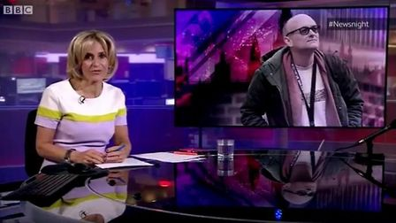 Emily Maitlis introduces BBC Newsnight with a summary of the government's reponse to the Dominic Cum