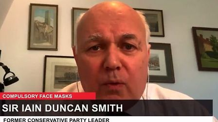 Brexiteer and former Tory leader Iain Duncan Smith explains why he's opposed to making face covering