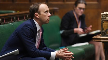 Matt Hancock in the House of Commons. Photograph: Jessica Taylor/UK Parliament.