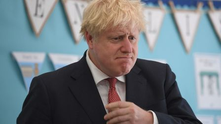 Prime Minister Boris Johnson during a visit to The Discovery School in West Malling, Kent. Photograp
