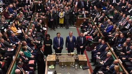 Results of a vote is announced in the House of Commons. Photograph: Jessica Taylor/House of Commons.