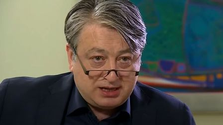 Alexander Temerko speaks to ITV News about the Russia report. Photograph: ITV.