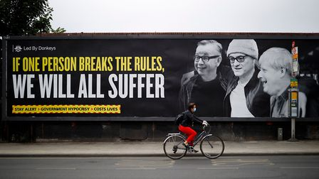 The billboard, exposing the government's hypocrisy over Dominic Cummings, was posted by political ca