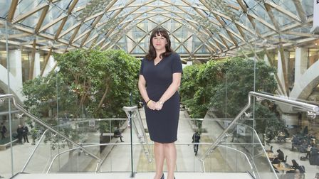 Labour MP Ruth Smeeth for Stoke on Trent North poses in the front of the new atrium in Portcullis Ho