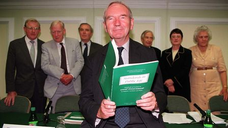 Lord Nolan with the Committee on Standards in Public Life. Photo: Neil Munns/PA