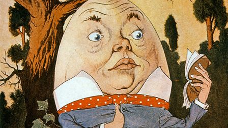 Humpty Dumpty Sitting on a Wall, illustration by Milo Winter, 1916. Photo by: Universal History Arch