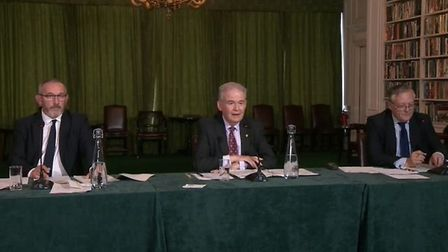 SNP MP Stewart Hosie, Conservative MP Julian Lewis and Labour MP Kevan Jones answer question from th