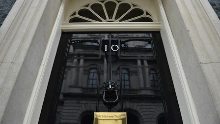 The front door of number 10 Downing Street in London; Dominic Lipinski