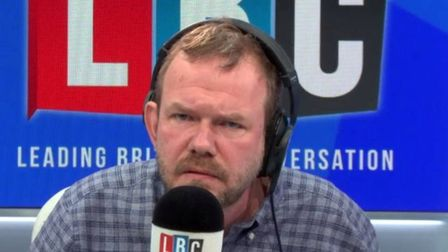 James O'Brien on LBC Radio. Photograph: LBC/Global.